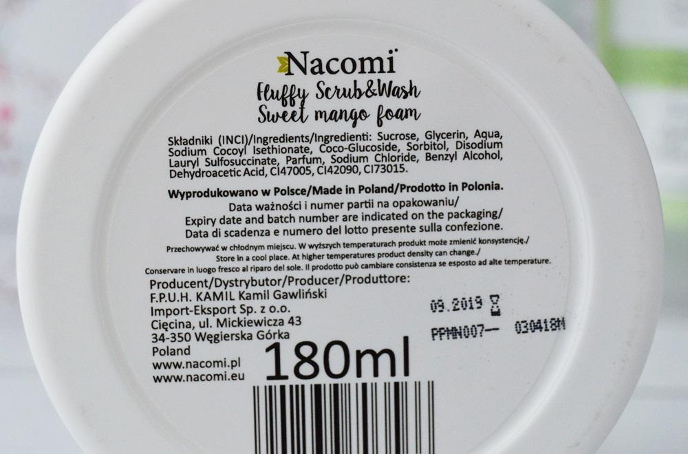 Nacomi Fluffy Scrub & Wash mango - pianka peelingująco-myjąca