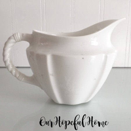 Royal Crown Derby Surrey White Milk Jug Creamer thrifted