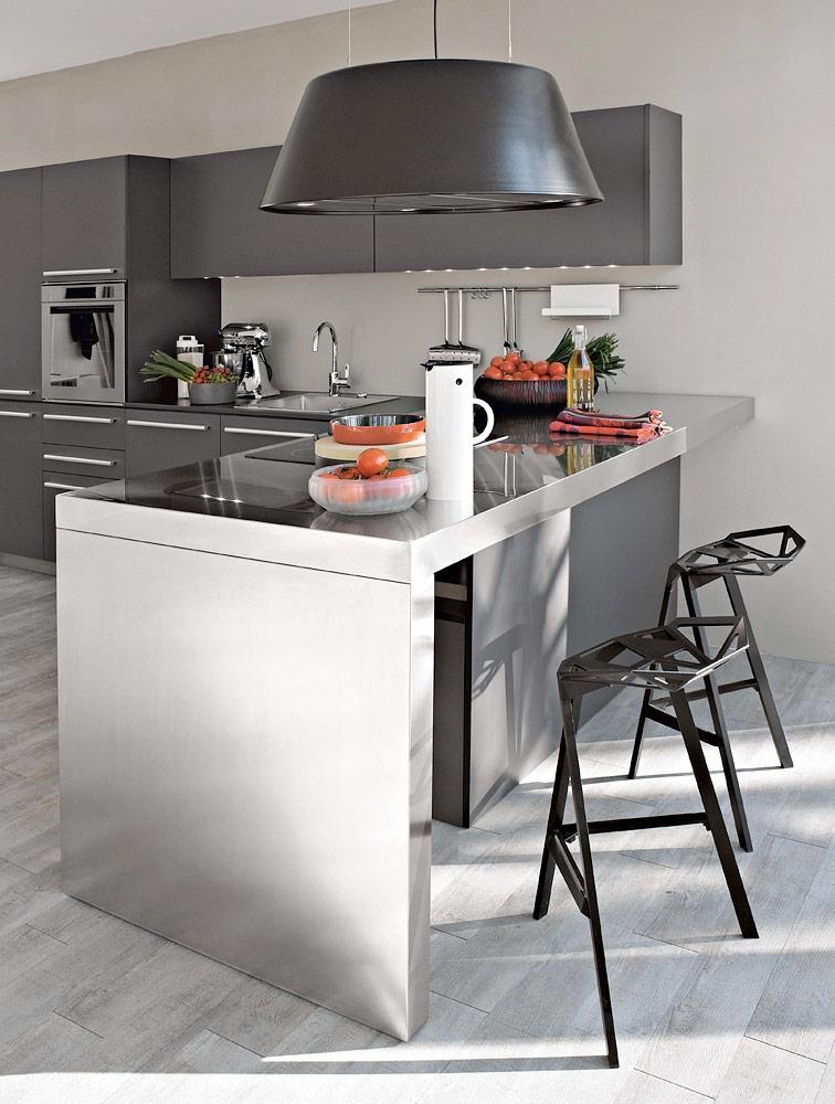 C mo integrar una mesa en la cocina cocinas con estilo - Disenar tu cocina ...