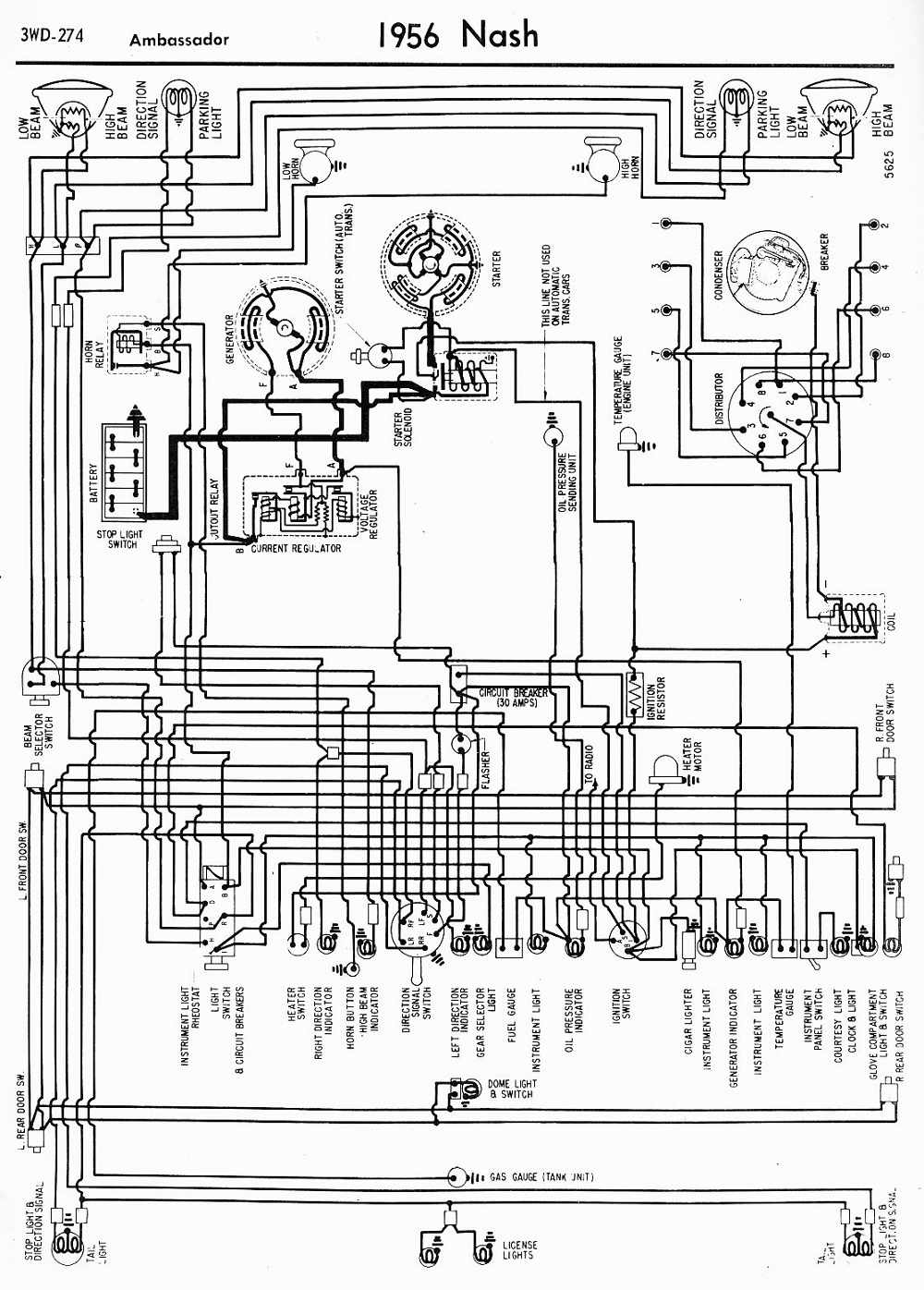 Wiring Diagram of 1956 Nash Ambassador