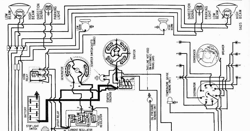 Proa: Wiring Diagram of 1956 Nash Ambassador