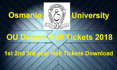 Manabadi OU Degree Hall Tickets 2018 Download, Schools9 OU UG Hall Tickets 2018