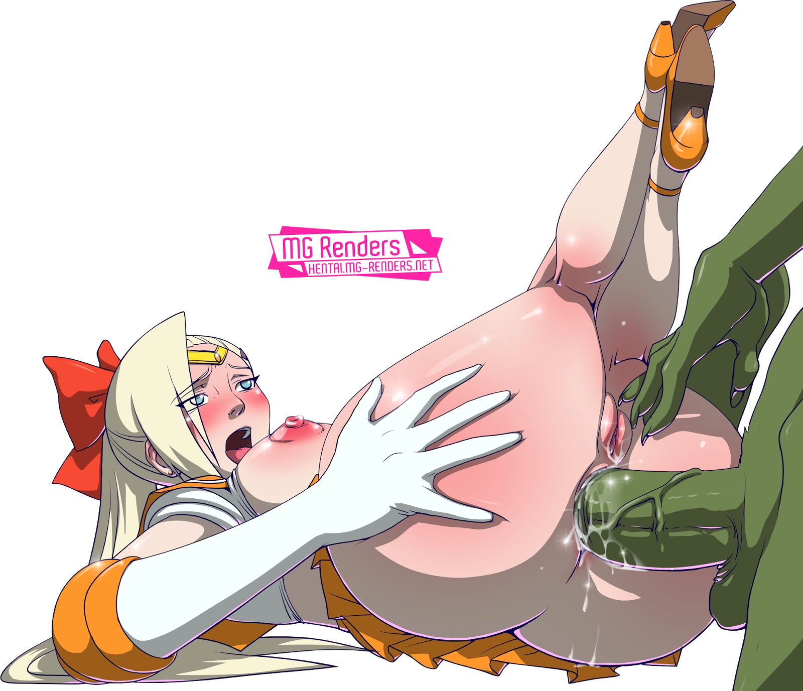 Tags: Anime, Render,  Aino Minako (Sailor Venus),  Anal Sex,  Anus,  Ass Grab,  High heels,  Naruto,  Nipples,  No bra,  Sailor Moon,  Skirt,  Vagina,  Yamanaka Ino, PNG, Image, Picture