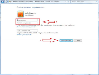 Cara memberi password pada komputer