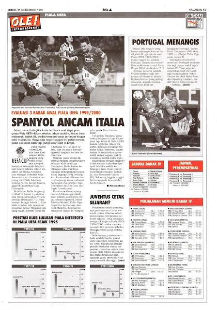 BABAK AWAL PIALA UEFA 1999/2000 SPANYOL ANCAM ITALIA