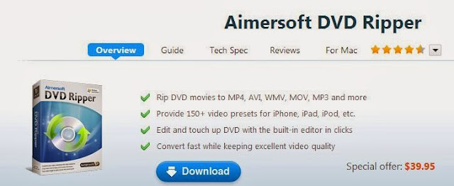 Aimersoft DVD Ripper – Top and Best Useful DVD Tool