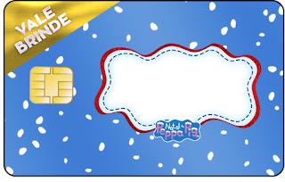 Tarjeta con forma de Visa de Peppa Pig en Navidad.