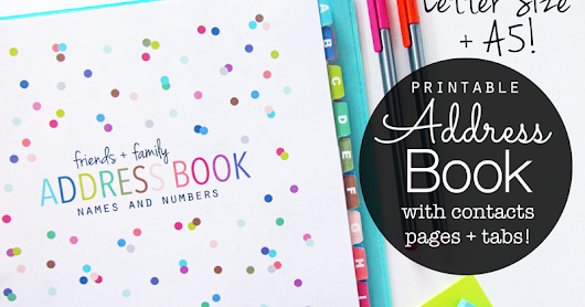 NEW Printable Address Book with Tabs! Lots of Dots