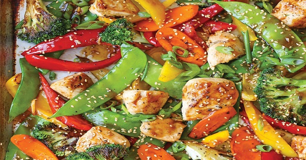 Sheet Pan Asian Stir Fry Recipe