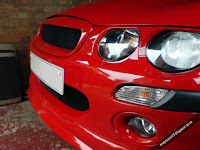 MG Rover 25 1.4 Solar Red with Face off debadged open grille
