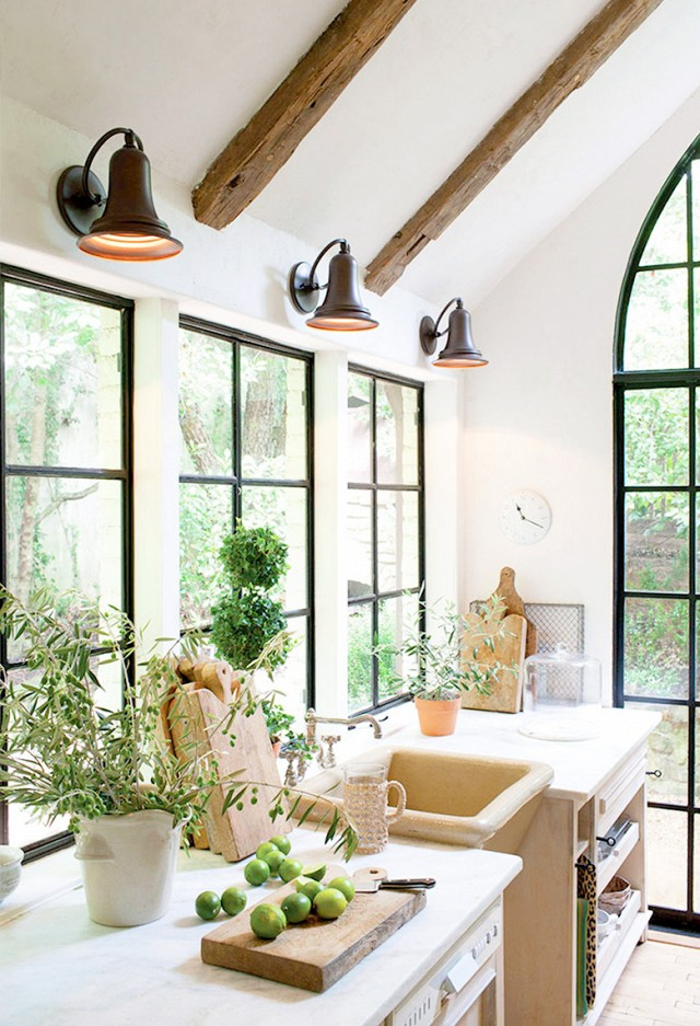 Finding the perfect lights for a fraction of the cost from thrifty lights above windows in kitchen aloadofball Gallery