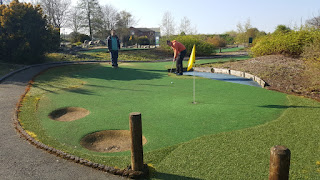 Playing Mini Golf at Clays Golf Centre in Wrexham