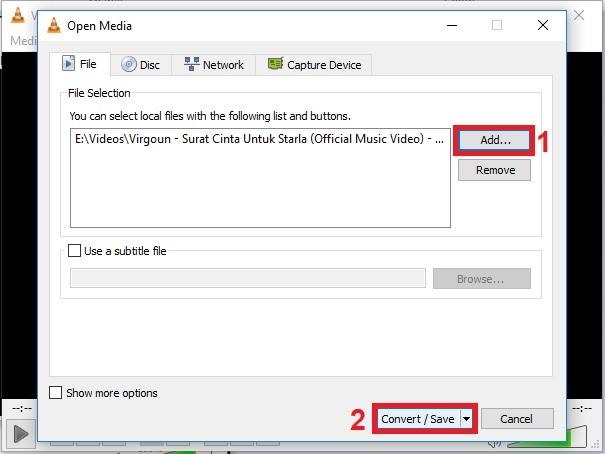 Cara mengkonversi file Audio dan Video ke format lain menggunakan VLC 2