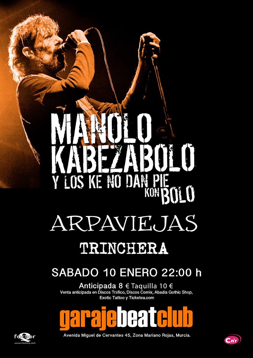 Concierto Arpaviejas-Manolo KabezaBolo, Garage Beat Club (Murcia)