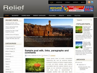 Relief-blogger-template