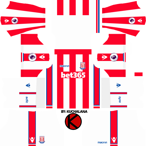 0cef7402228 Stoke City F.C. Kits 2017/2018 - Dream League Soccer - Kuchalana