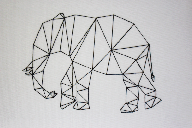 Camis & Cushions: DIY PROJECT: GEOMETRIC ANIMAL WALL ART.