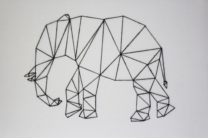 Camis & Cushions: DIY PROJECT: GEOMETRIC ANIMAL WALL ART.