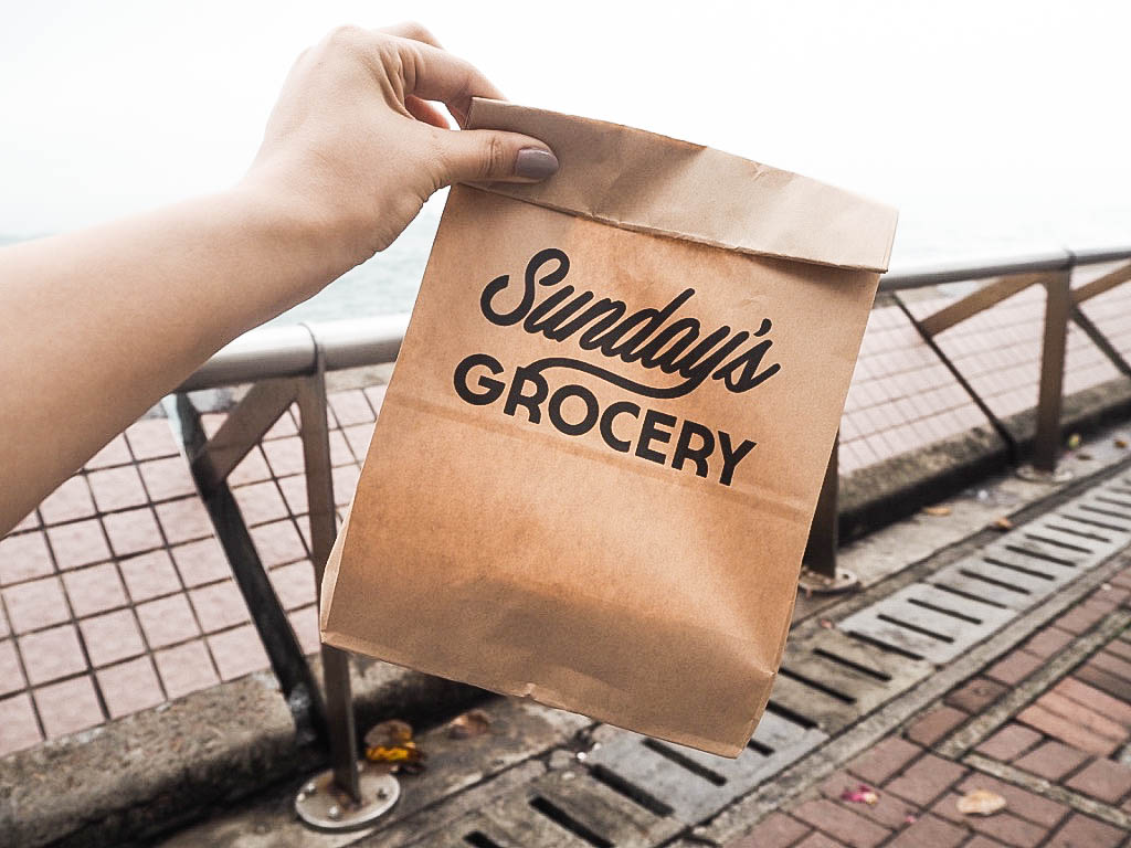 Sunday's Grocery paper bag