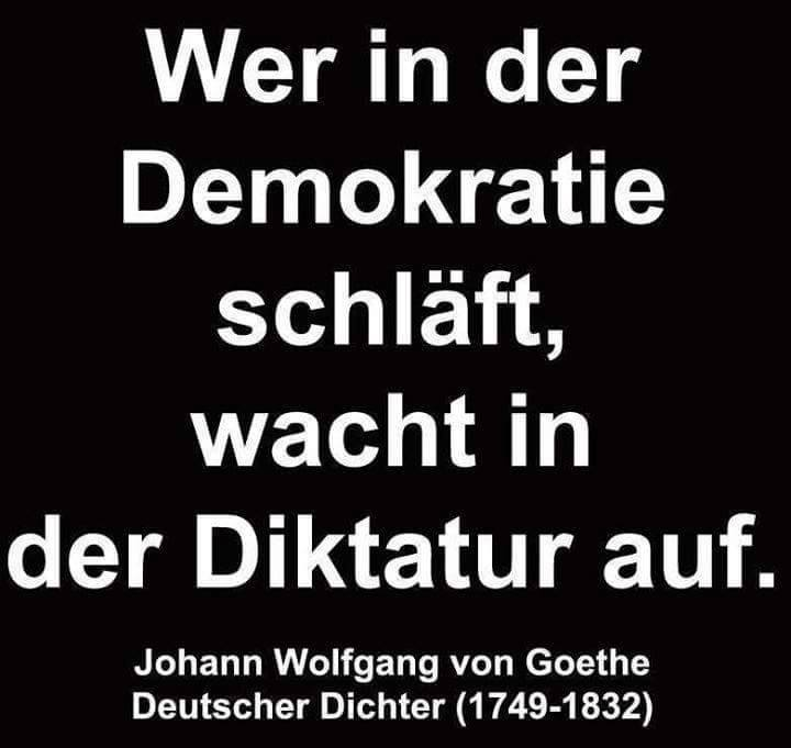 Afbeeldingsresultaat voor who sleeps in democracy wakes up in dictatorship