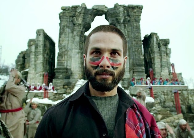 Shahid Kapoor as Haider, modeled upon Hamlet, in Vishal Bhardwaj's Haider