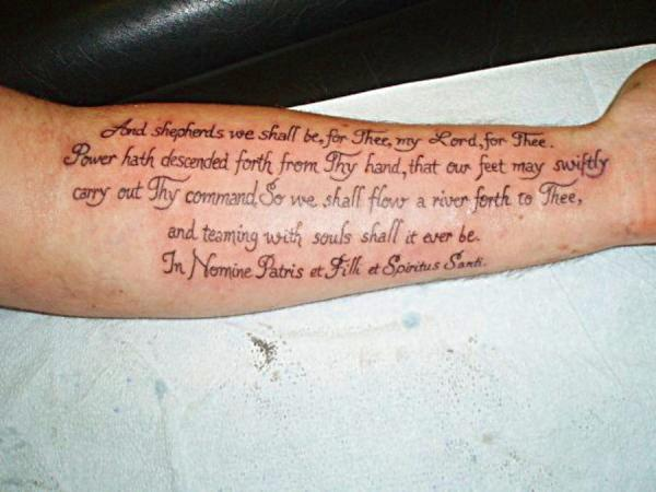 Writing Tattoos On Forearm
