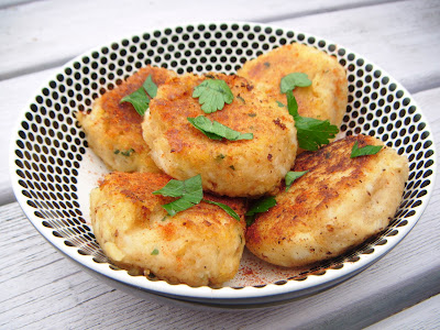 Halloumi and Potato Cakes
