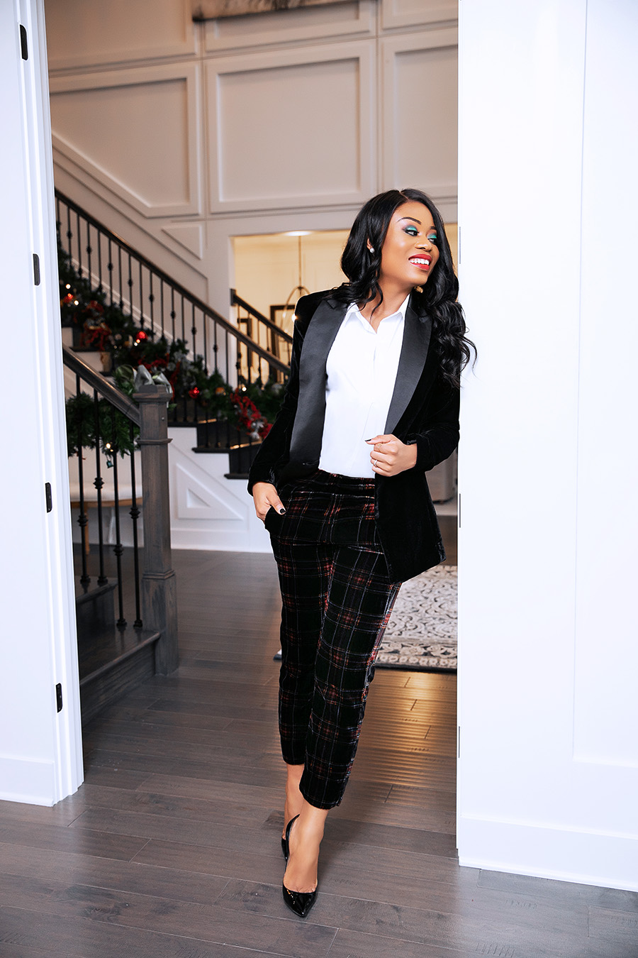 holiday style, plaid and velvet, www.jadore-fashion.com