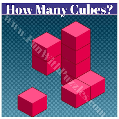 Count number of cubes in given figure