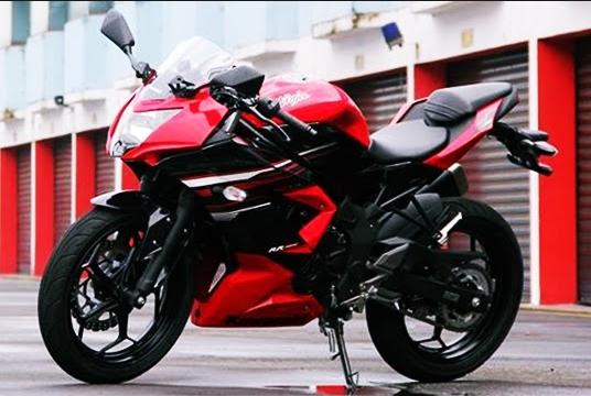 Decal Stiker Ninja 250 Mono Kawasaki Racing Hitam Ungu