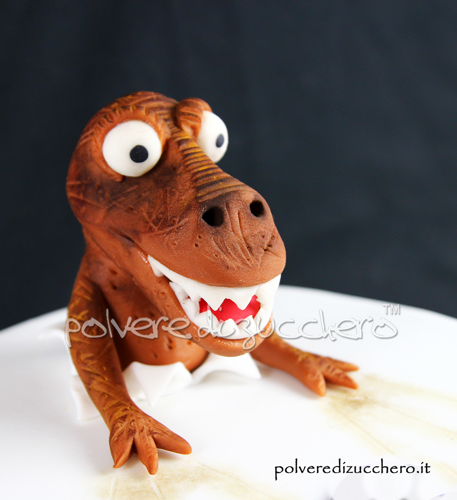 cake design pasta di zucchero polvere di zucchero torta decorata jurassic park jurassic world dinosauro dinosaur fondant compleanno bday