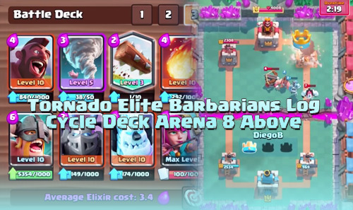 Deck Tornado Hog Elite Barbarians di Arena 8 Keatas