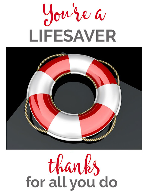 Eloquent image with regard to you're a lifesaver printable
