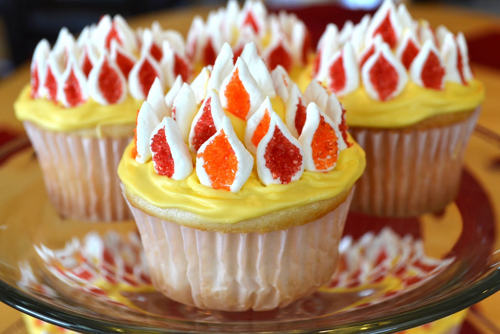 Catholic Cuisine Flaming Cupcakes For Pentecost
