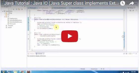Java ee java tutorial java io java super class for Pool design pattern java