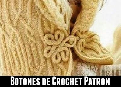 Botones de crochet alargados