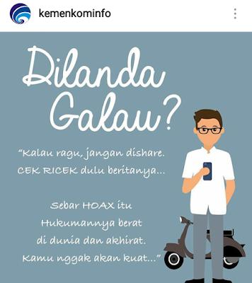 Stop Hoax supaya kita jadi bangsa Indonesia yang kuat