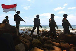 Pasukan TNI Menjaga Pulau Terluar