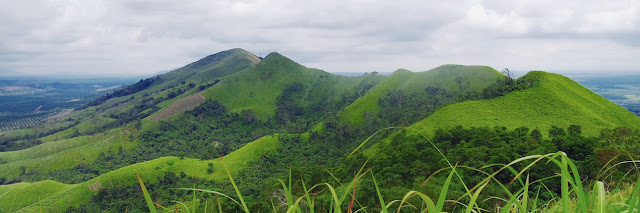 Panorama of the Beauty of Telang Pelaihari Hill