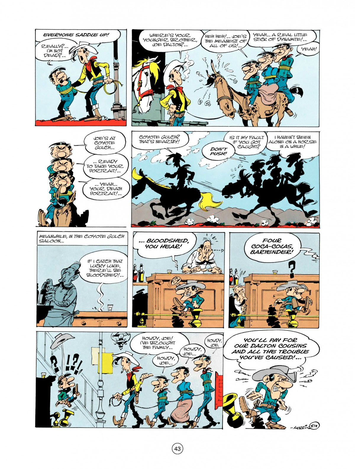 Read online A Lucky Luke Adventure comic -  Issue #28 - 44