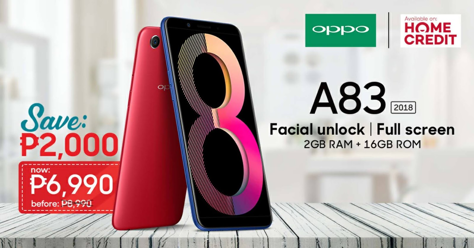 OPPO A83 now more competitive at PHP 6,990 with Face Unlock and Full