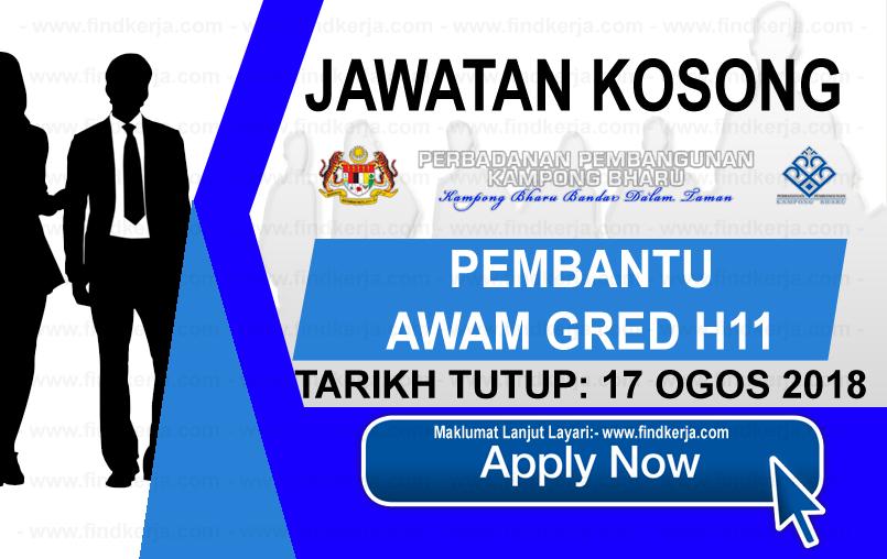 Jawatan Kerja Kosong PKB - Perbadanan Pembangunan Kampong Bharu logo www.ohjob.info www.findkerja.com ogos 2018