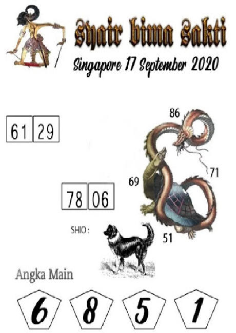 Kode syair Singapore Kamis 17 September 2020 206