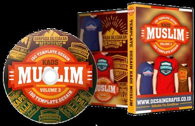 Paket 1 dvd Desain Kaos Distro Muslim Vol.03- Rp. 150.000 .