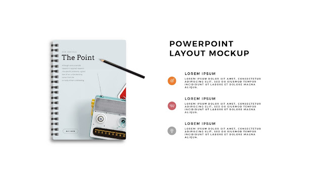 Infographic Spiral Book PowerPoint Mockup Template Slide 1
