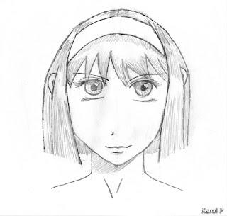 Manga Girl - Graphite Drawing