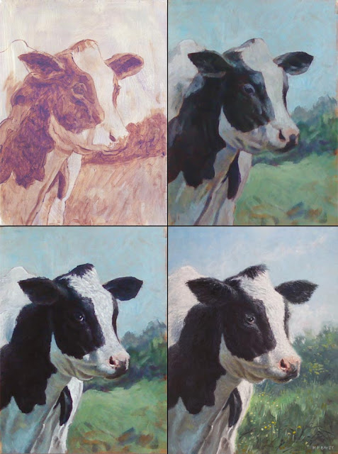 Martin Davey Artist cow portrait stages