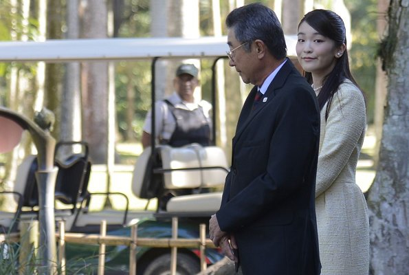 Princess Mako visited Japanese Botanical Garden, and Nikkei Association, and Redeemer Christ Monument in Rio de Janeiro