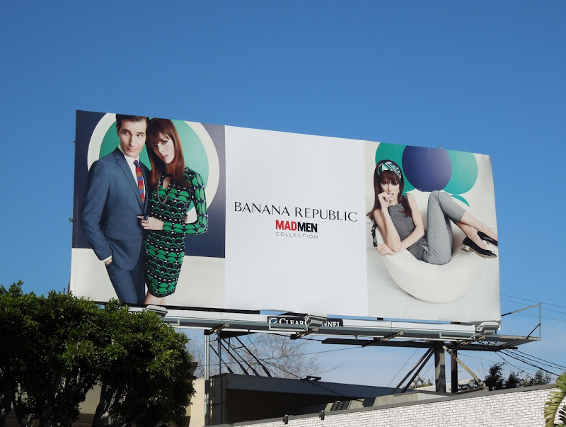 Banana Republic Mad Men Collection Spring 2013 billboard