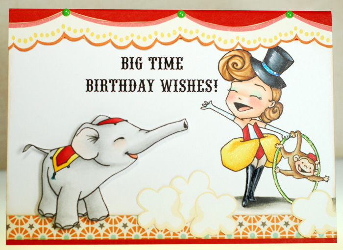 The Big Top Candy Kit Includes One Sweet November Bailey And Ellie Rubber Stamp Set Ten 8x8 Sheets Of October Afternoon Midway Paper